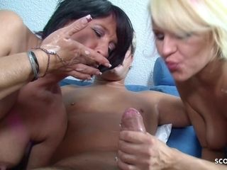 German Mature Teach Step Daughter To Get Laid  - old and 18 years old