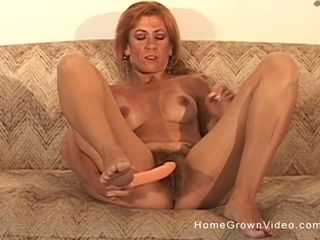 Hairy mature amateur redhead fucking her husband