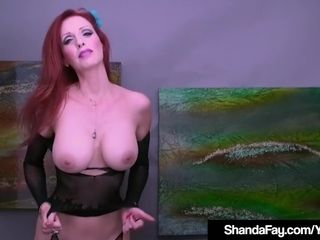 Creaming milf Shanda Fay faux-cock boinks Her cream colored slit!