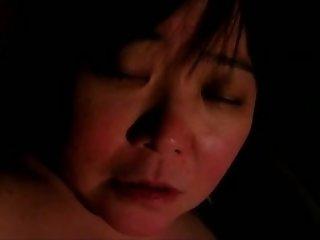 Fugly Asian granny finger fucked in amateur video