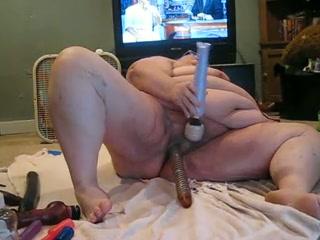 Giant adult slattern poking dishevelled vagina here bulky lovemaking toys