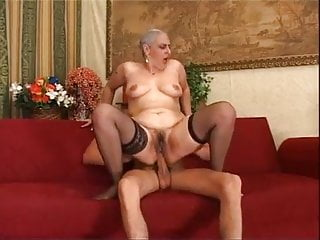Italian grandmother Tina Monti gigantic youthful chisel