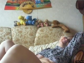 Horny Mom Masturbating On Homemade Webcam