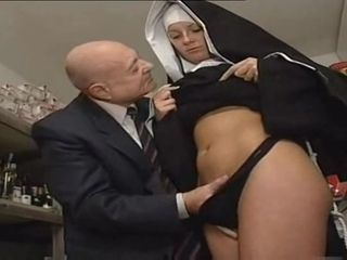 Nun And A Dirty Old Man - Hot Porn Scene