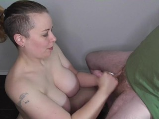 Femdom ruined orgasm with post orgasm torture. Courtesy of Bayesia Nash