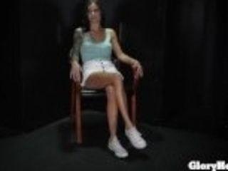 """Sexy skinny girl sucking in the gloryhole"""