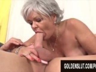 """GoldenSlut - Older Ladies Show off Their Cock Sucking Skills Compilation 20"""