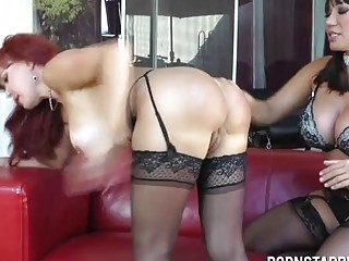 Lesbian Milfs Ass licking and Machine fuck - Ava Devine and Sexy Vanessa