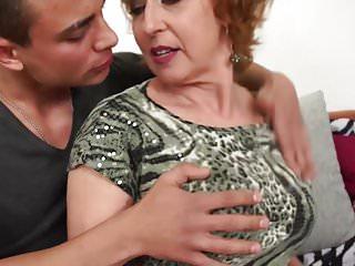 X-rated Czech grandma fucks pubescent unintentional varlet