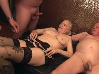 Obese grannie gang orgy
