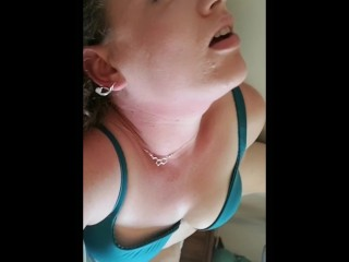 Gigantic backside ginger-haired cougar pokes her snatch and backside with playthings