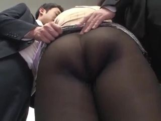 Muchimuchi Thigh Aunt's Black Pantyhose asian college