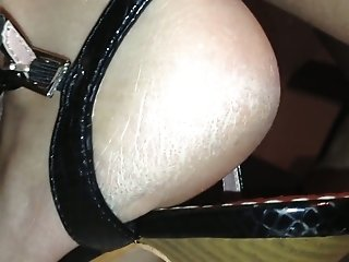 Homemade solo with my wife showing her pussy and feet for the cam